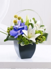Lily and Vanda Orchid Arrangement