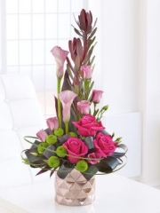 Pink Rose and Calla Lily Arrangement