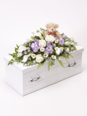 Children's Casket Spray with Teddy Bear