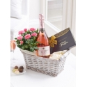 Luxury Sparkling Rose Gift Basket