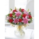 Red Rose and Pink Lily Hand-tied